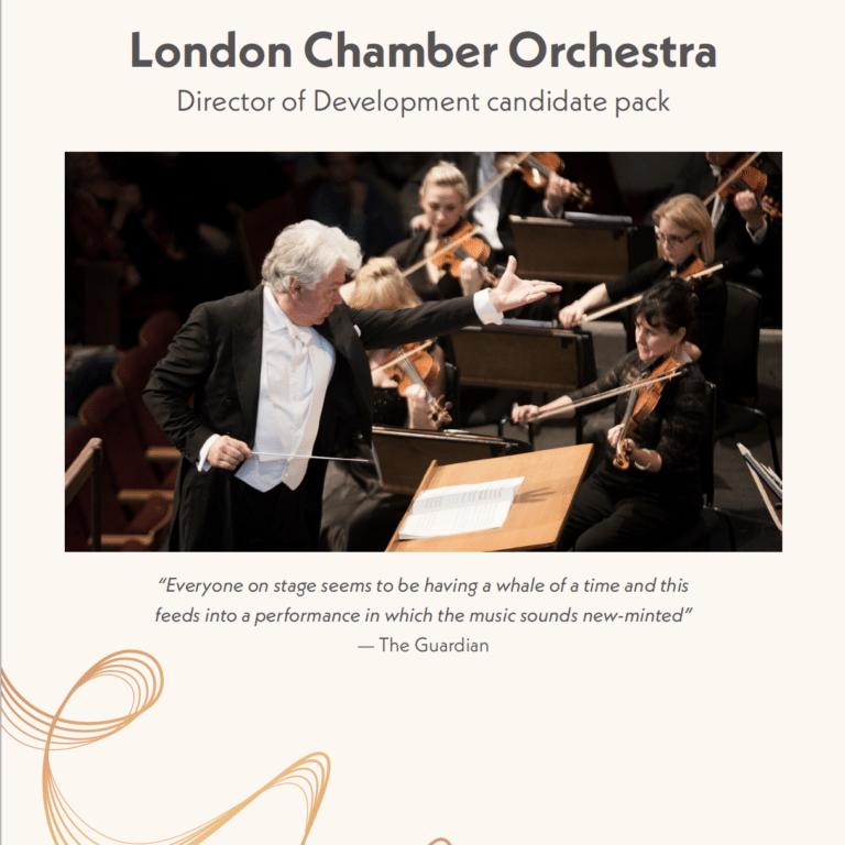 Job Advert Director of Development at London Chamber Orchestra